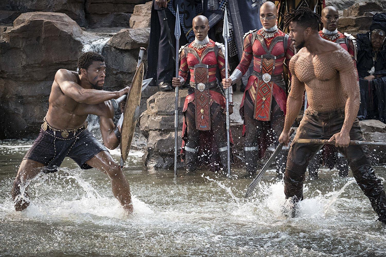 T'challa faces off against Erik Killmonger