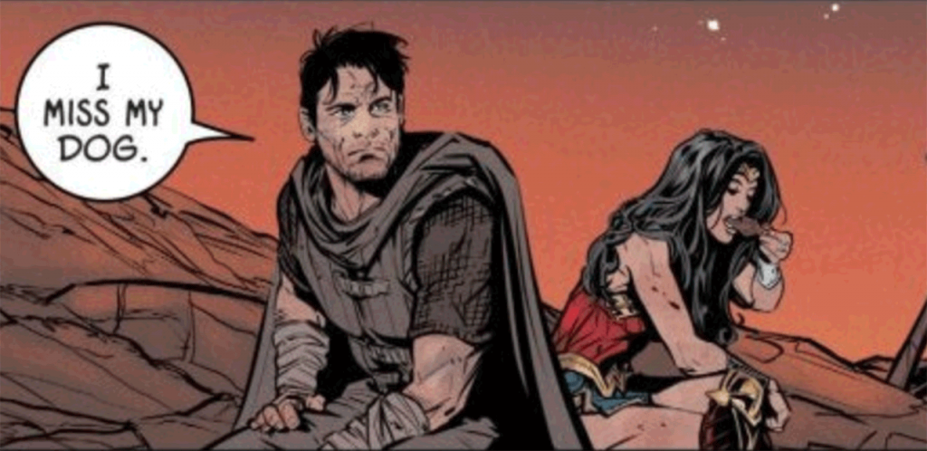 """Bruce Wayne in the hell dimension saying """"I miss my dog"""""""