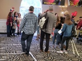 Fans line up to meet stars at Monster Mania 39 on Sunday.