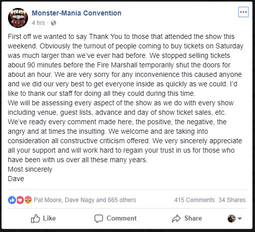 An post from Monster Mania