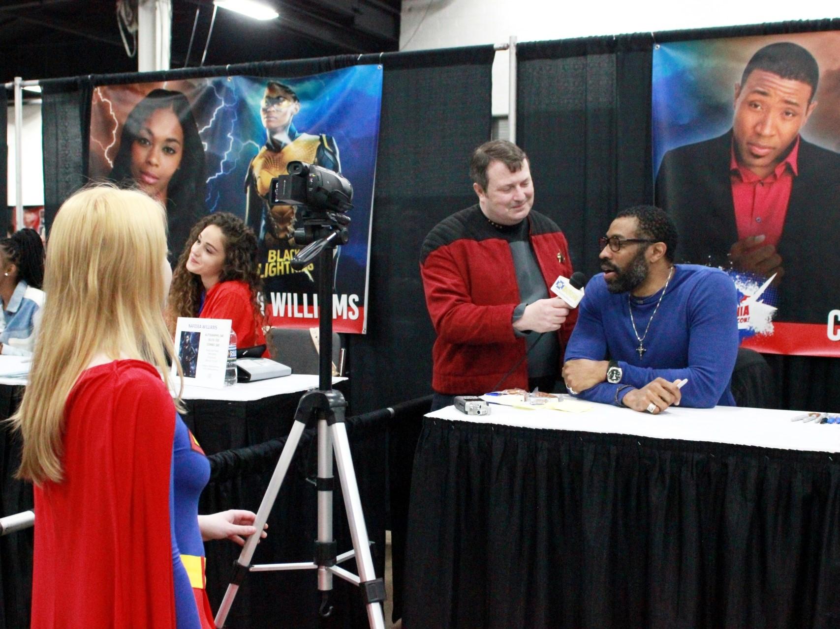 Cress Williams interviewed at Great Philadelphia Comic Con.