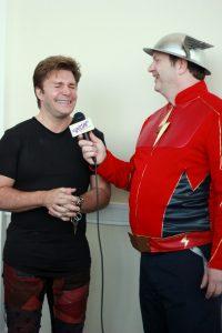 Vic Mignogna being interviewed at Katsucon.