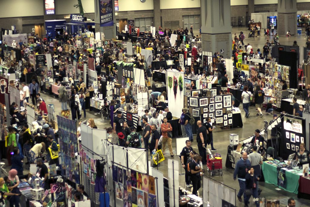 The con floor at Awesome Con 2019