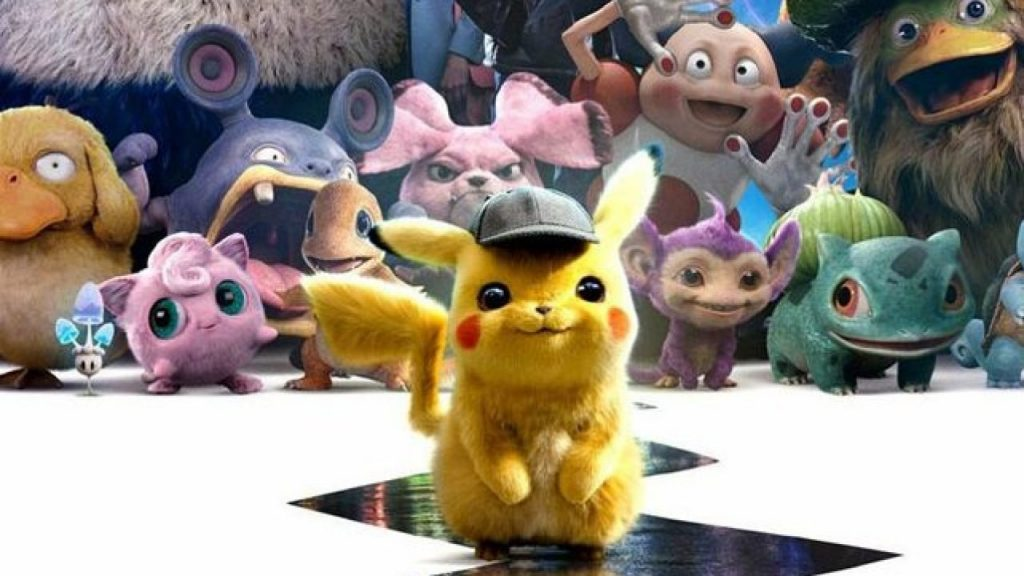 Detective Pikachu and other Pokemon from the live action movie.